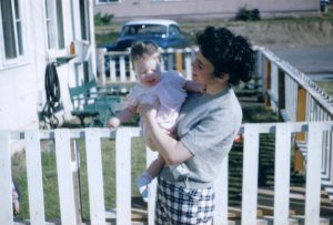 mom and Janice at Camp Matthews