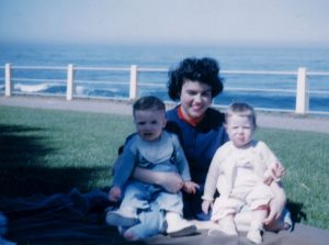 mom and twins at Ellen Browning Scripps Park