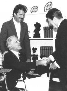 Dad and Ronald Reagan